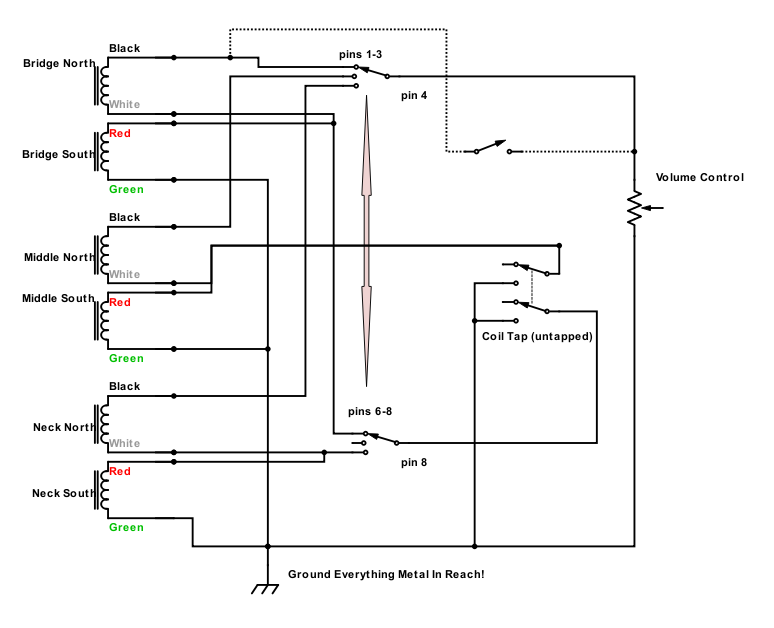 """[DIAGRAM_38IS]  HHH with global coil tap. """"Plus one more mandatory piece of… 