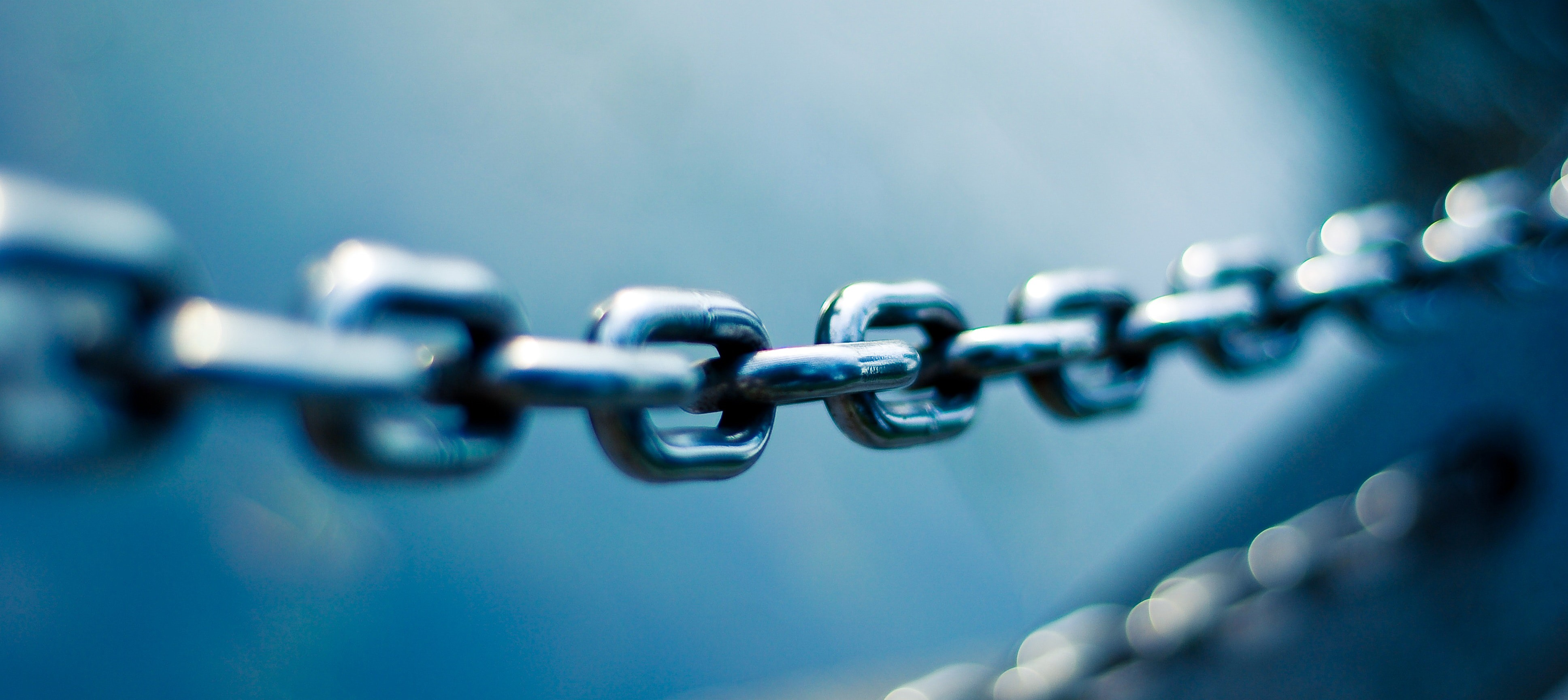 Photograph of a metal chain