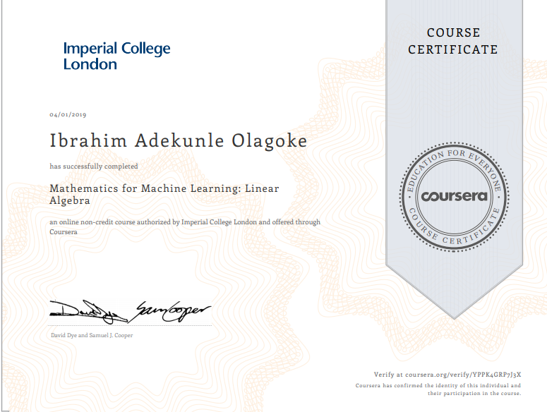 A Review of the Coursera Mathematics for Machine Learning ...