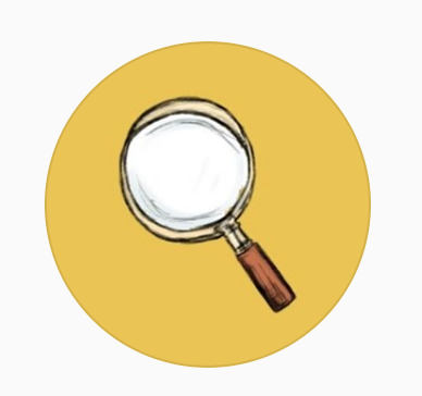 Plot Twisters startup logo is a magnifying glass!