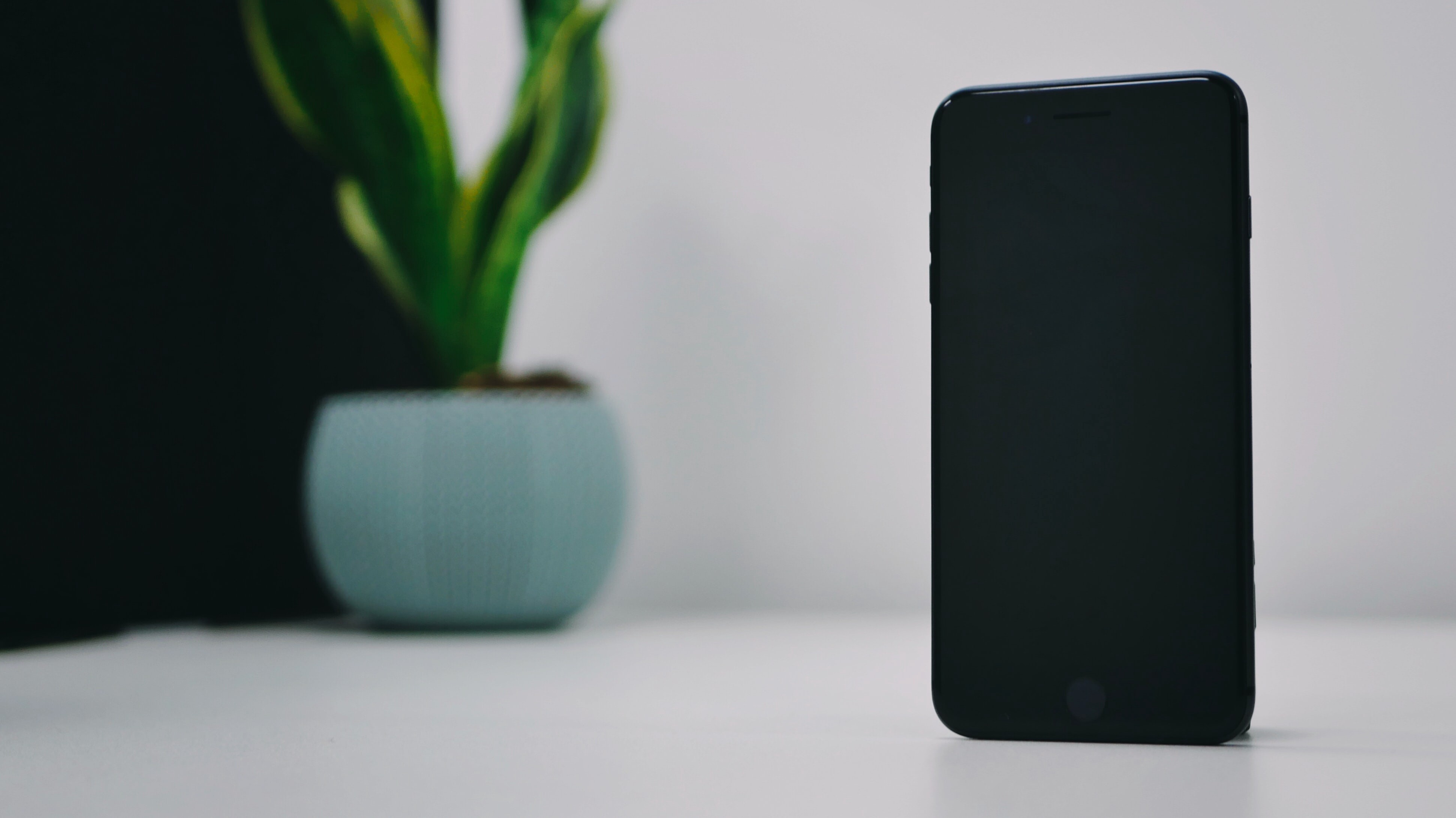 An image of an iPhone sitting empty on a surface