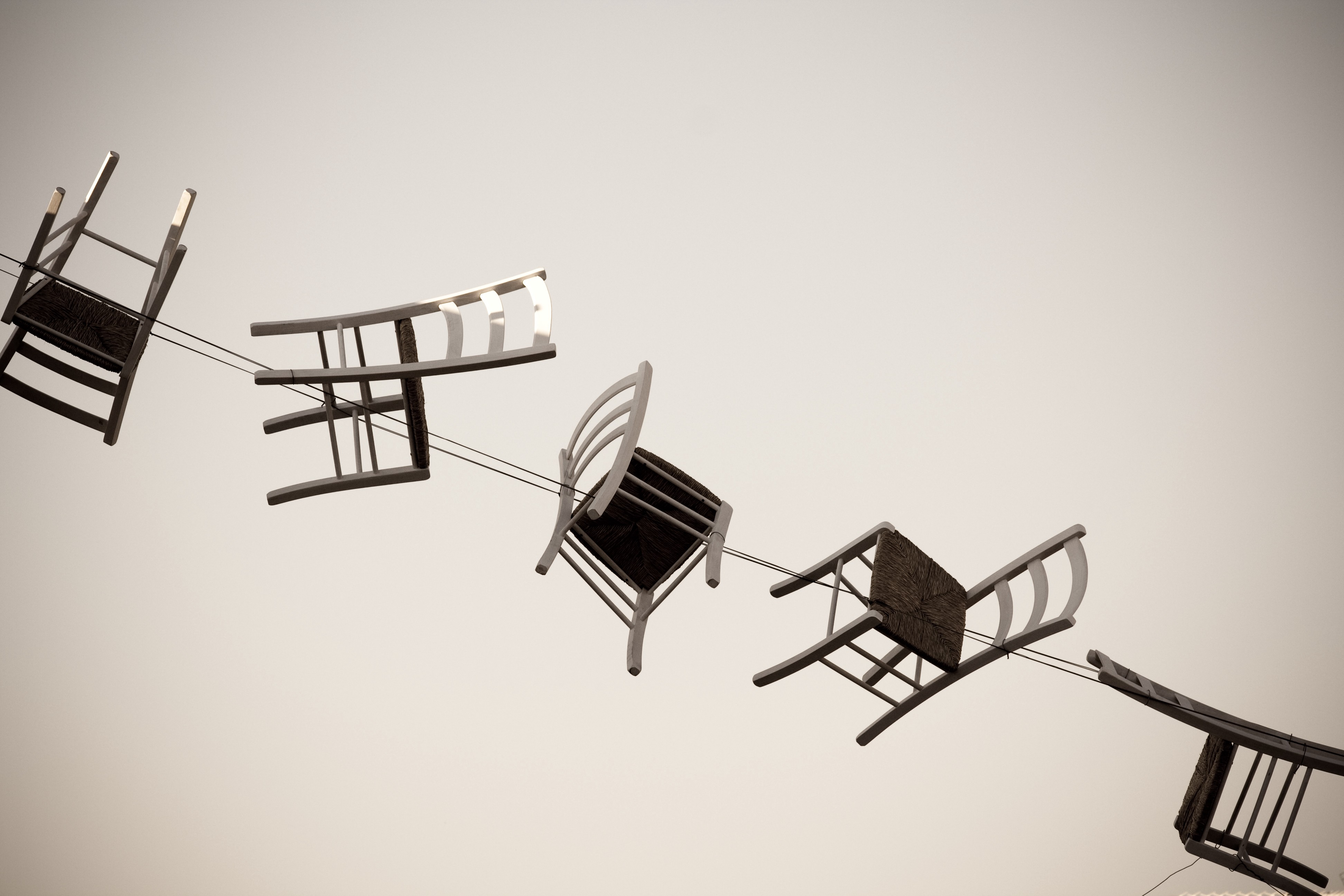 Image of a string of chairs