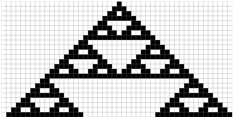 One-Dimensional Cellular Automaton in JavaScript