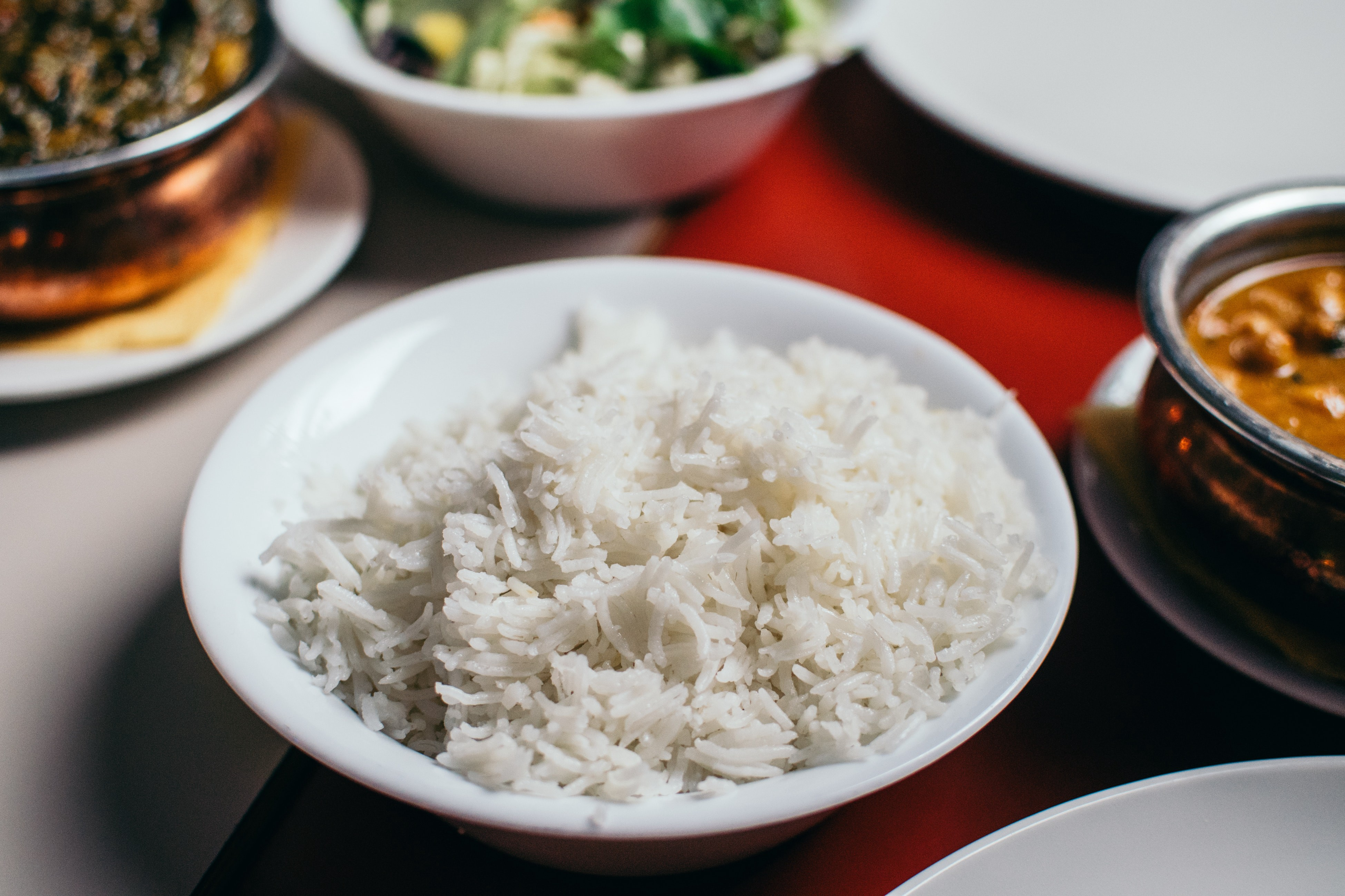 White rice in a bowl