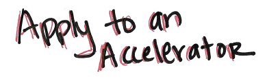 Apply to an accelerator in handwriting