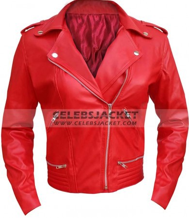 Riverdale Red Women Leather Jacket Gladys Fergerson