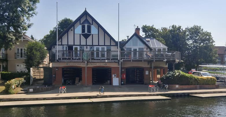 Maidenhead Rowing Club boathouse in England
