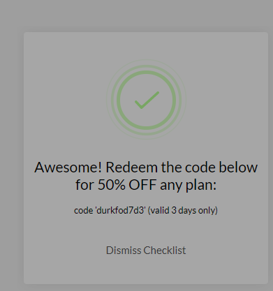 onboarding checklist with an incentive