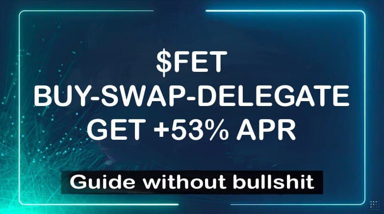 How to buy, swap and delegate FET