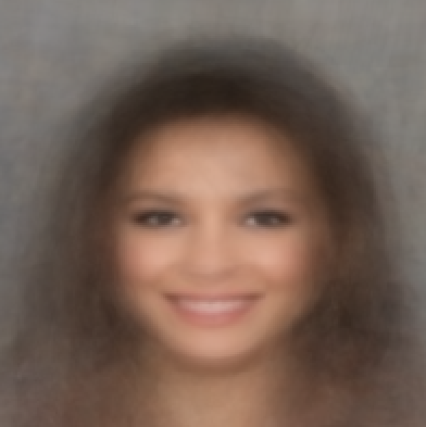 A synthetic face from smiling young brown-haired women