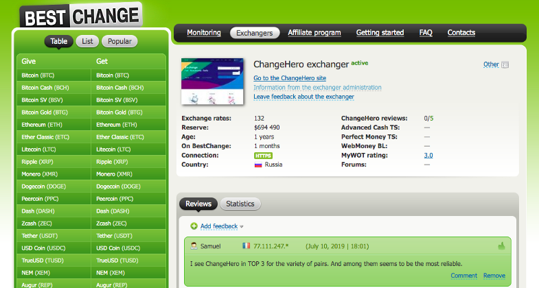 0*kxaqM4voyVAqWzvP - We are rocking with the best: ChangeHero and BestChange are now partners!