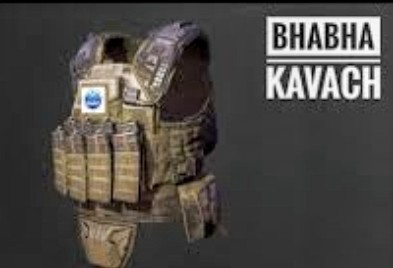 BHABHA KAVACH  Lightest level III PLUS BULLET PROOF JACKET DEVELOPED BY INDIA BARC TO PROTECT CISF.