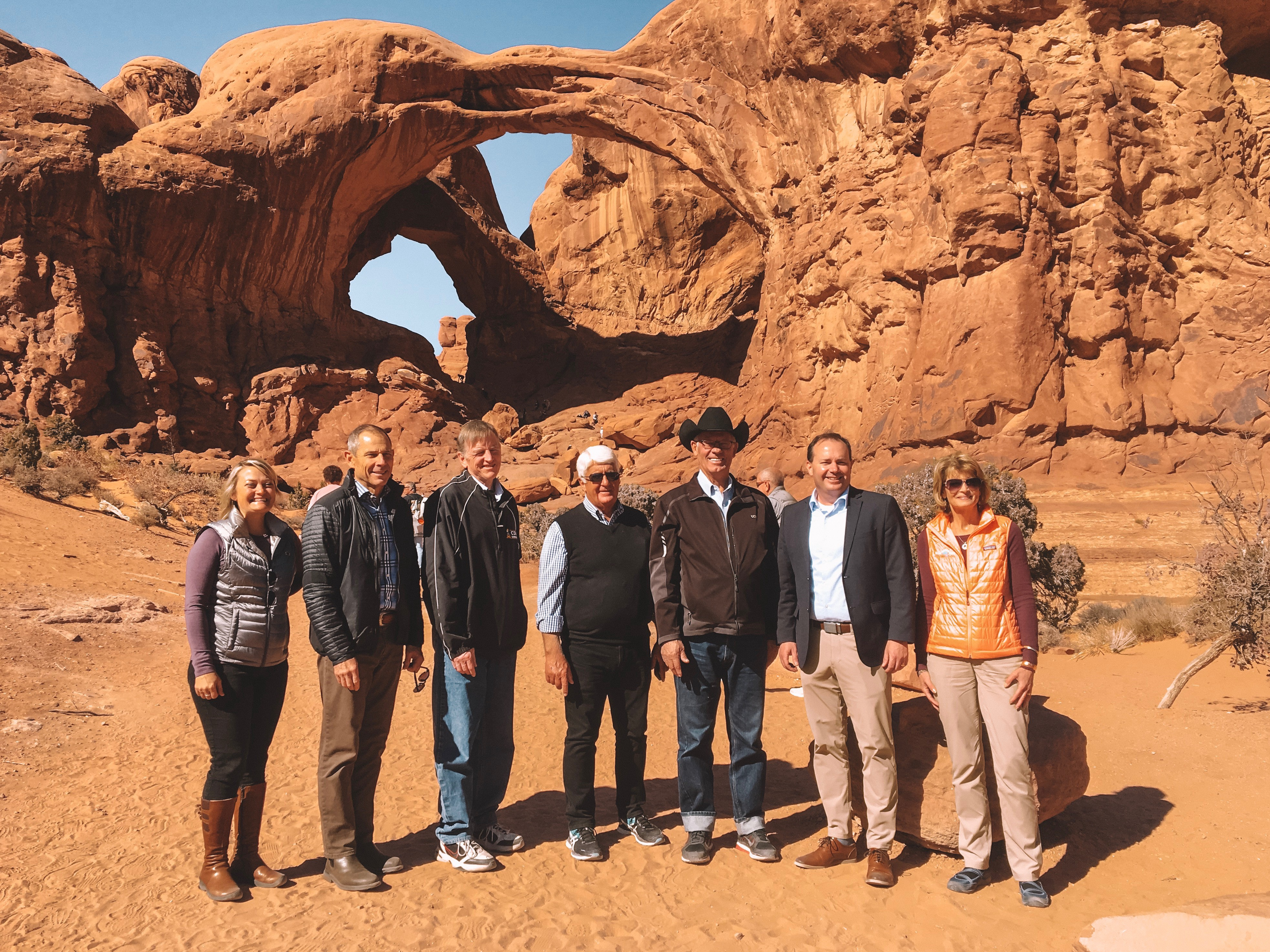 Visiting Double Arch with my colleagues