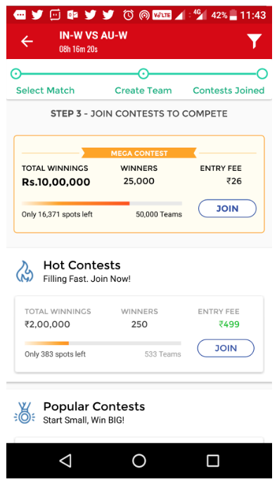 UX Case Study — Dream11 Android App Usability Analysis