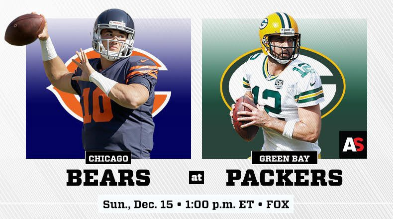 2019 Live Chicago Bears Vs Green Bay Packers Livestream
