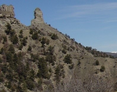 The spires of Chimney Rock National Monument, Colorado
