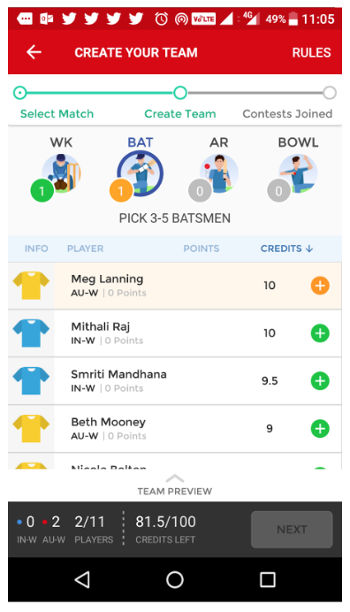 Dream11 (Case Study) — Android App Usability Analysis