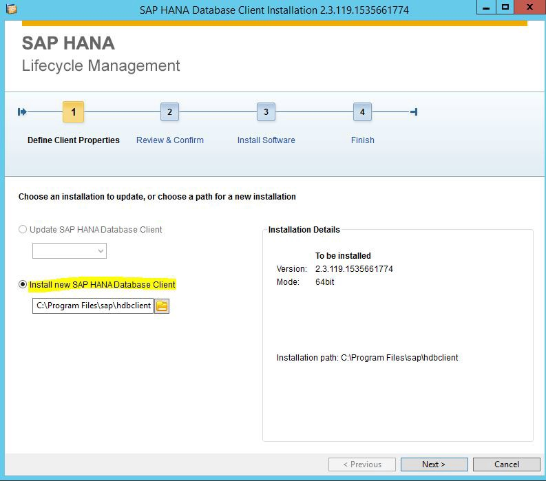 download sap hana database