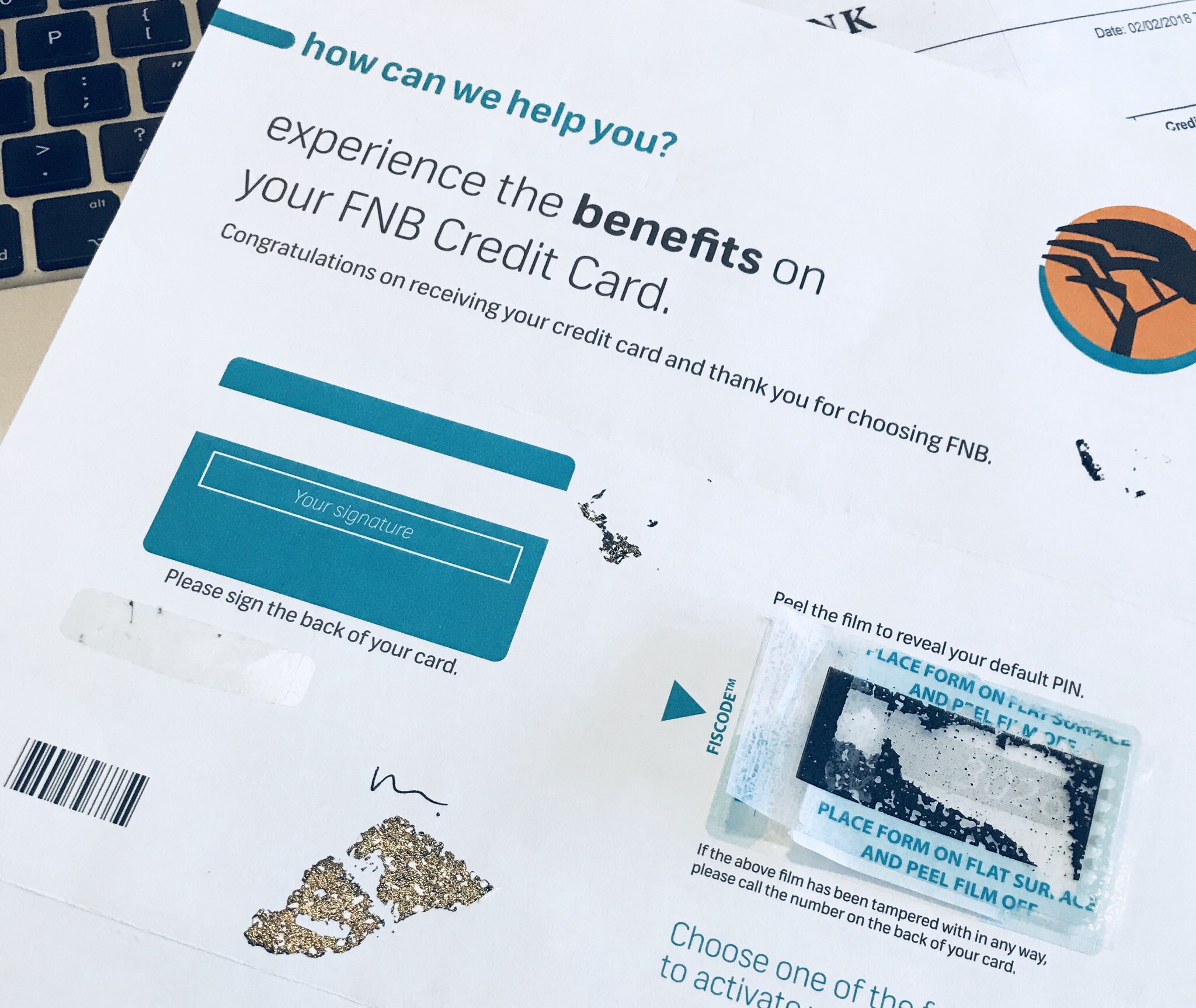 My almost-great FNB credit card onboarding experience