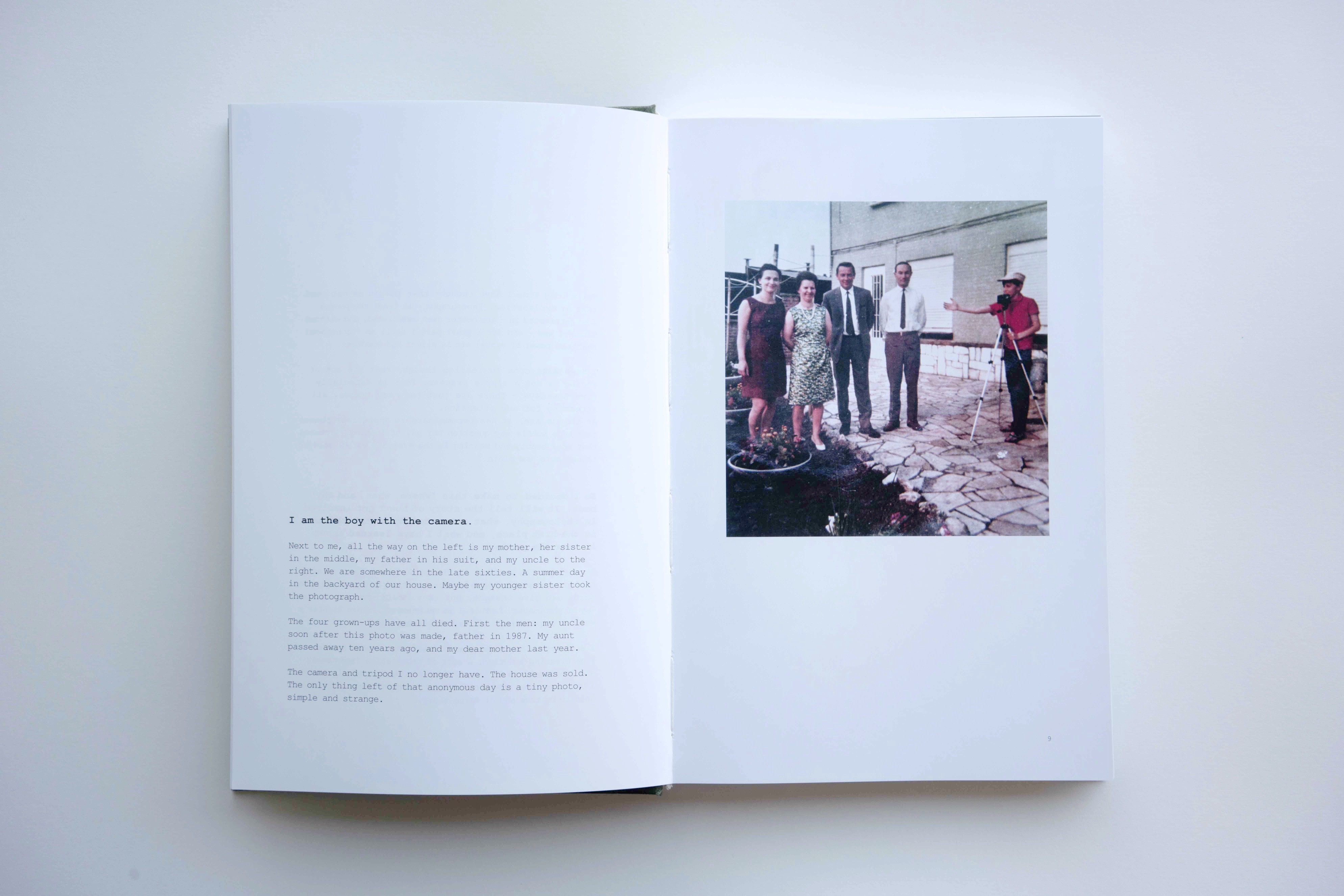 """A spread from the """"Whereabouts"""" photobook by Marc Steculorum"""