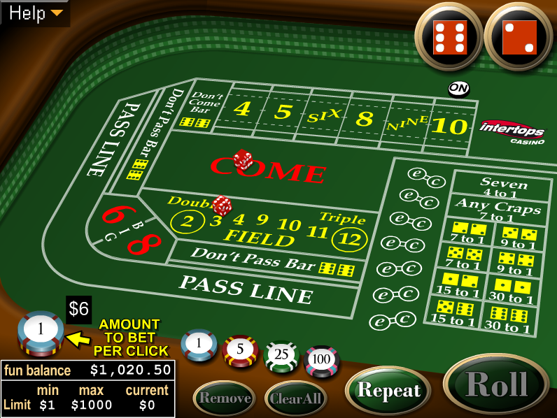 simple craps betting strategy