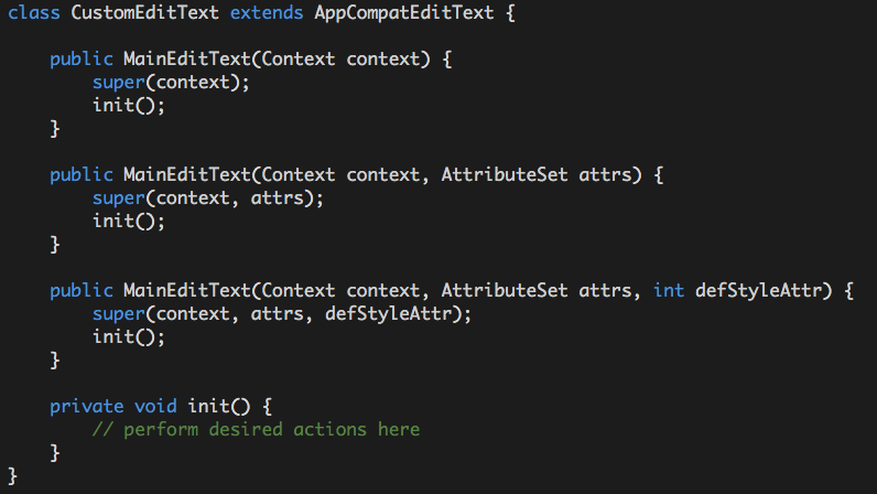 Android EditText : Simplified, transparent and less painful