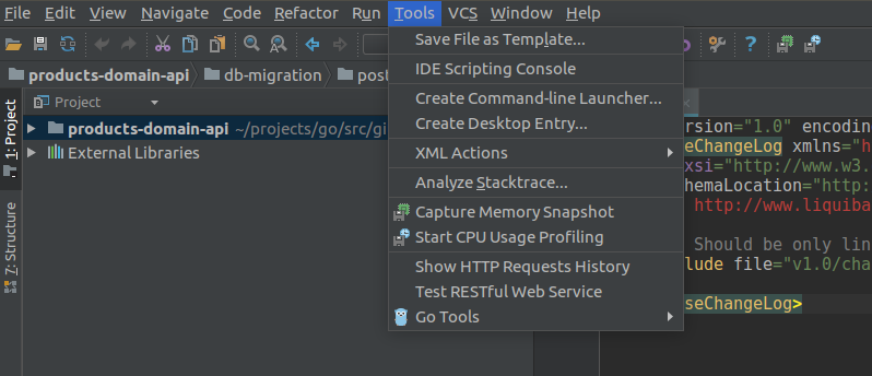 Launch IntelliJ IDEA or Goland from command line (Linux or