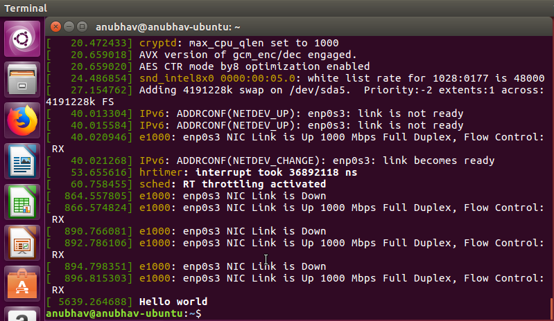 Adding a Hello World System Call to Linux Kernel - Anubhav