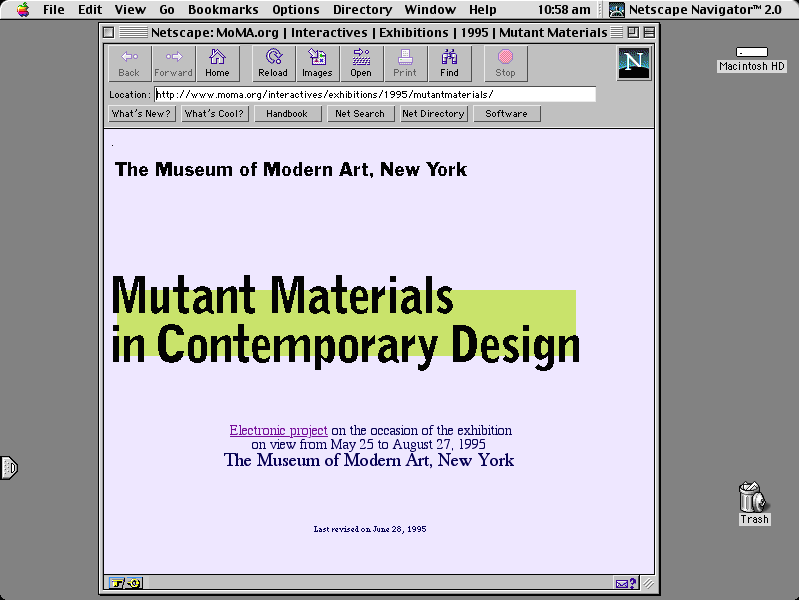 Mutant Materials and Video Spaces: 20 years of MoMA on the web