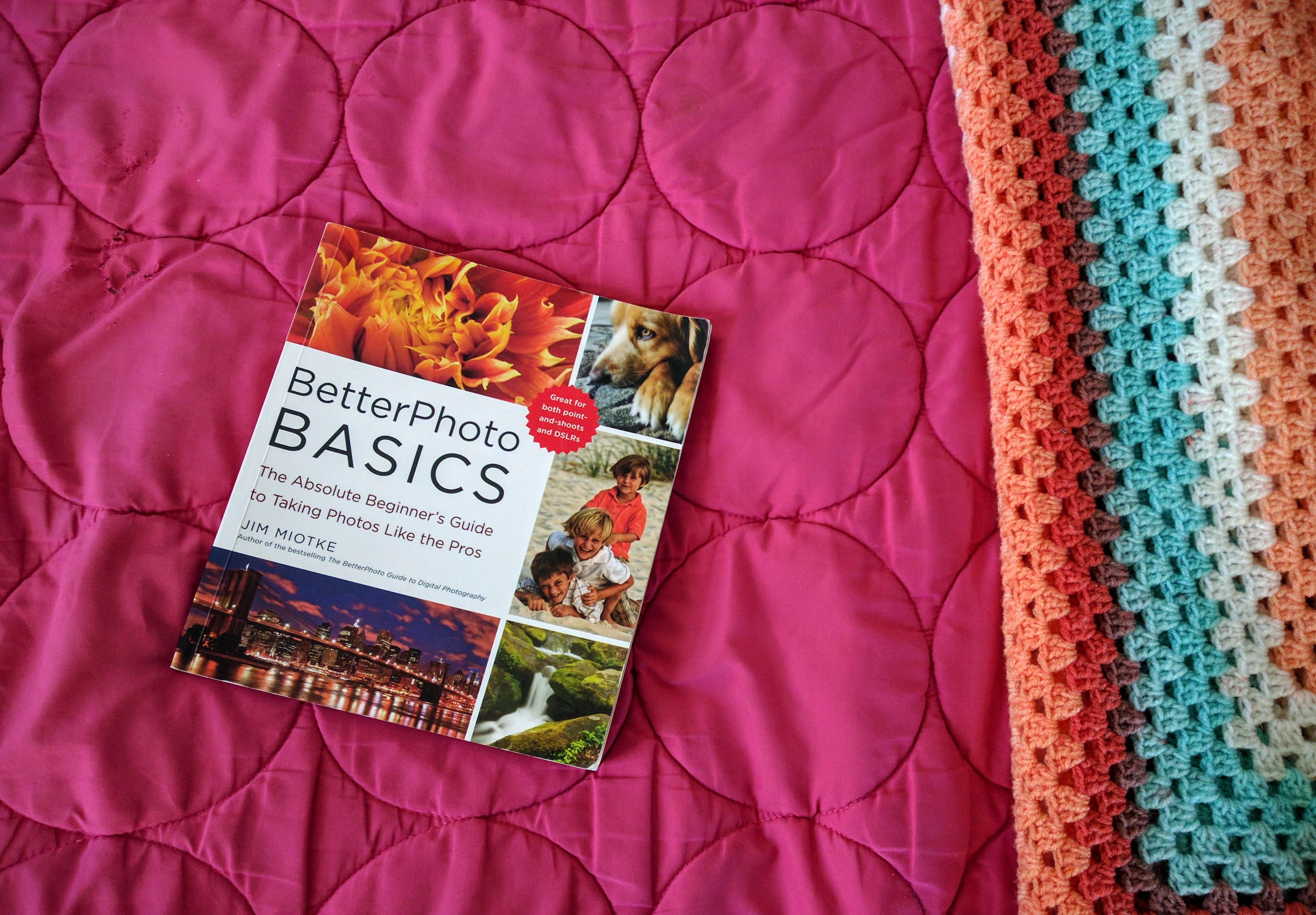Textbook on bedsheets