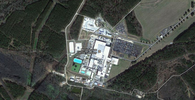 an overhead view of the westinghouse facility in columbia s c google