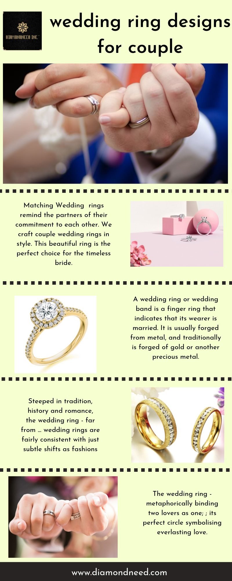Wedding Ring Designs For Couple Matching Wedding Rings Remind The By Diamondneed Inc Medium