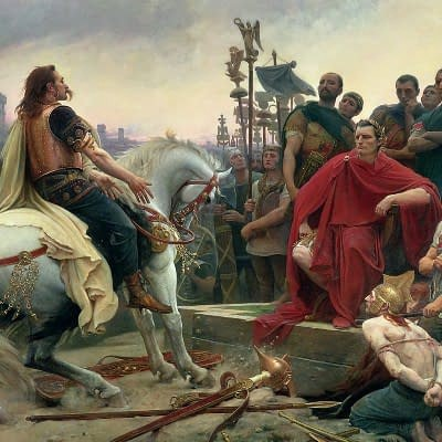 Gallia (Gaul) had come a long way since surrendering before Roman might, depicted here by Lionel Royer.