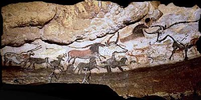 Cave Painting of a hunt over 10,000 years ago