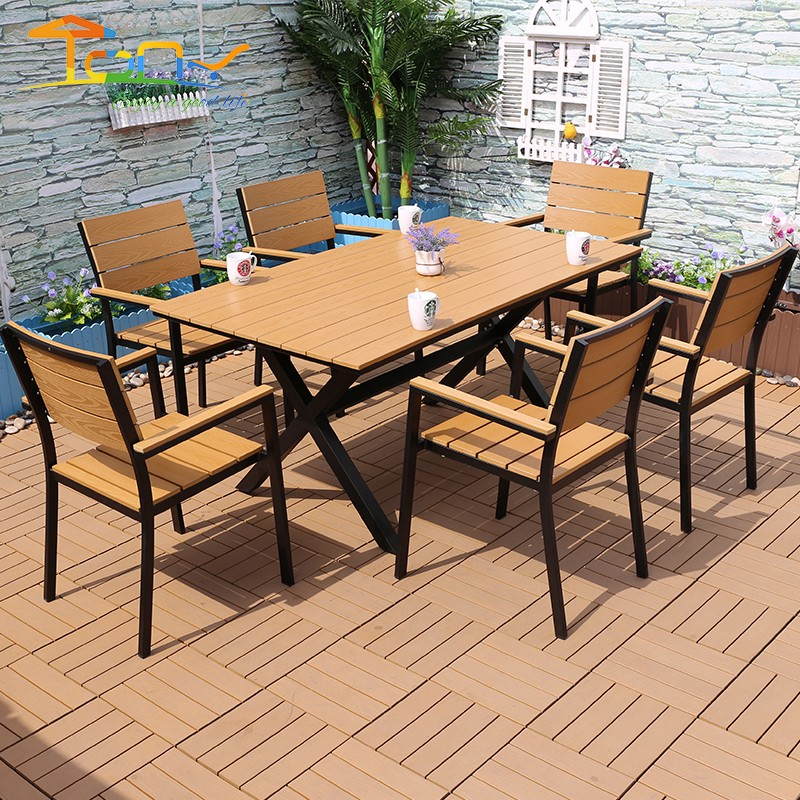 Special Price For Siyu Outdoor Furniture 6 Seat Black Round Aluminum Dining Table And Chair Set By Tony Li Medium