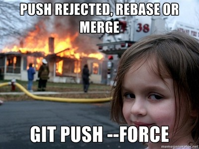 git push local branch to remote force