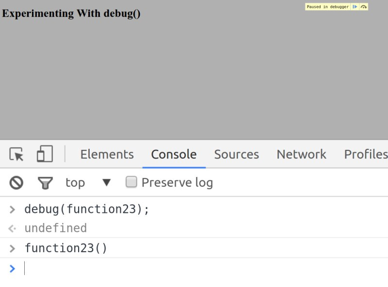 Debug() — Javascript Debugging Tips