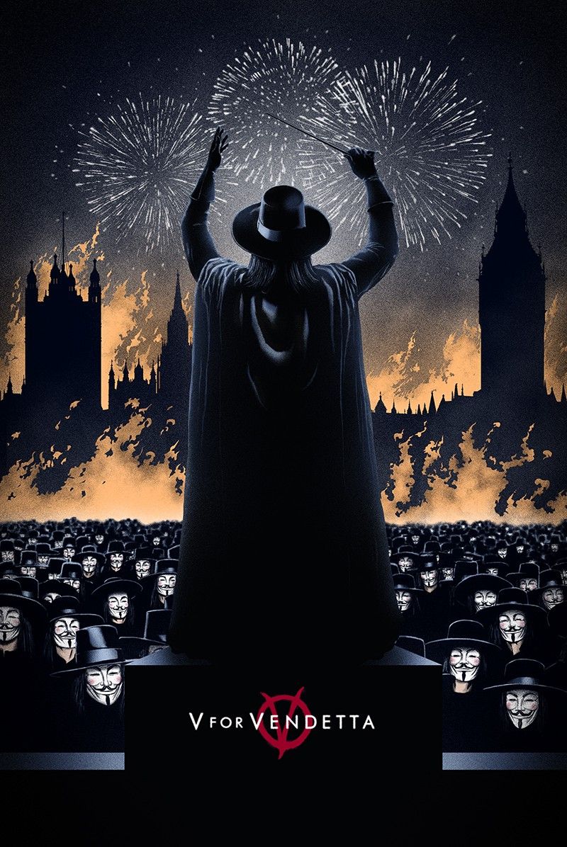 Póster de 'V for Vendetta'