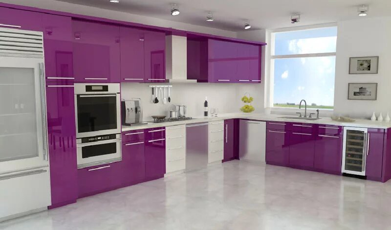 Purple Kitchen Design Ideas Purple Is One Of The Most Suitable By Btdecors Modern Kitchen Designs Medium