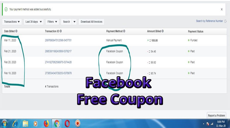 How To Get Free Facebook Coupon In Your Won Account Offers 2020 By Manoj Kumar Panda Medium