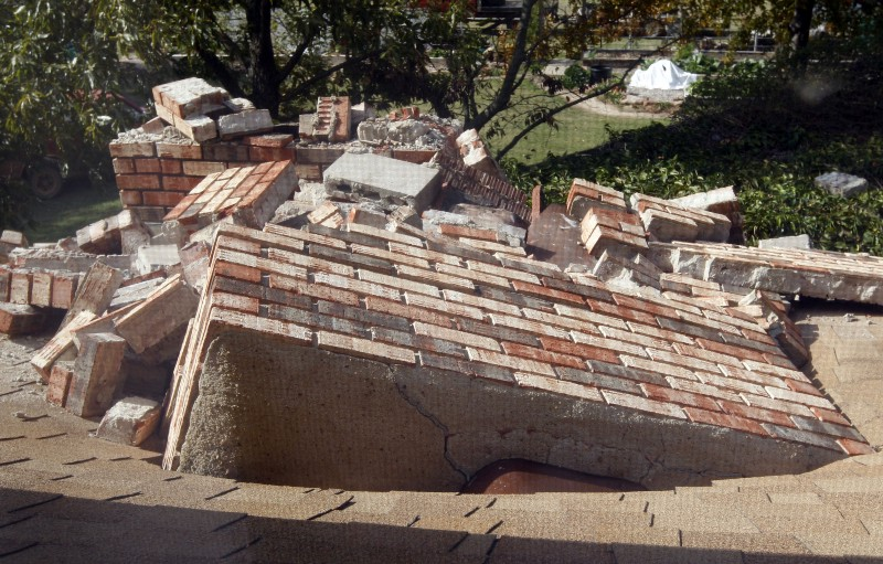 Image result for PHOTOS OF DAMAGE FROM EARTHQUAKE DAMAGE IN OKLAHOMA