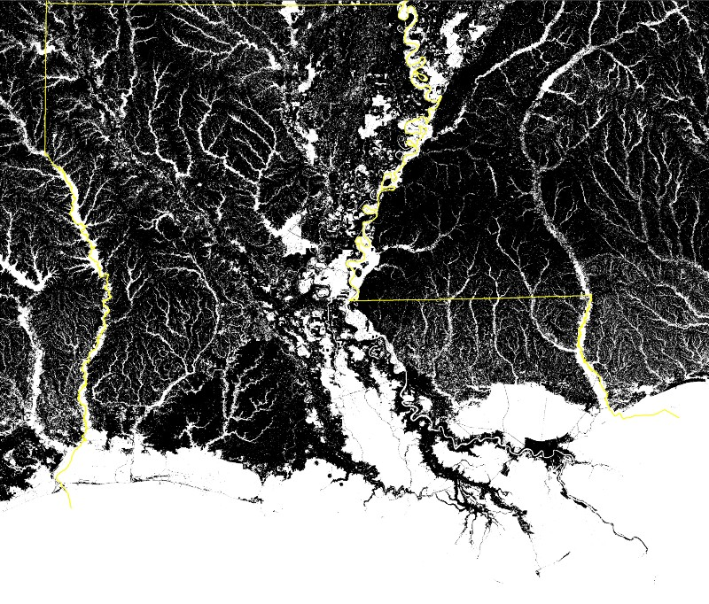 What is the land in Louisiana like?