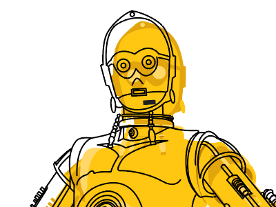 C3PO from Starwars—one of the first fictional robots that could engage in human conversation.