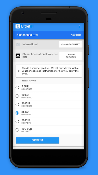 Refill on the Go: Announcing the Bitrefill Android App