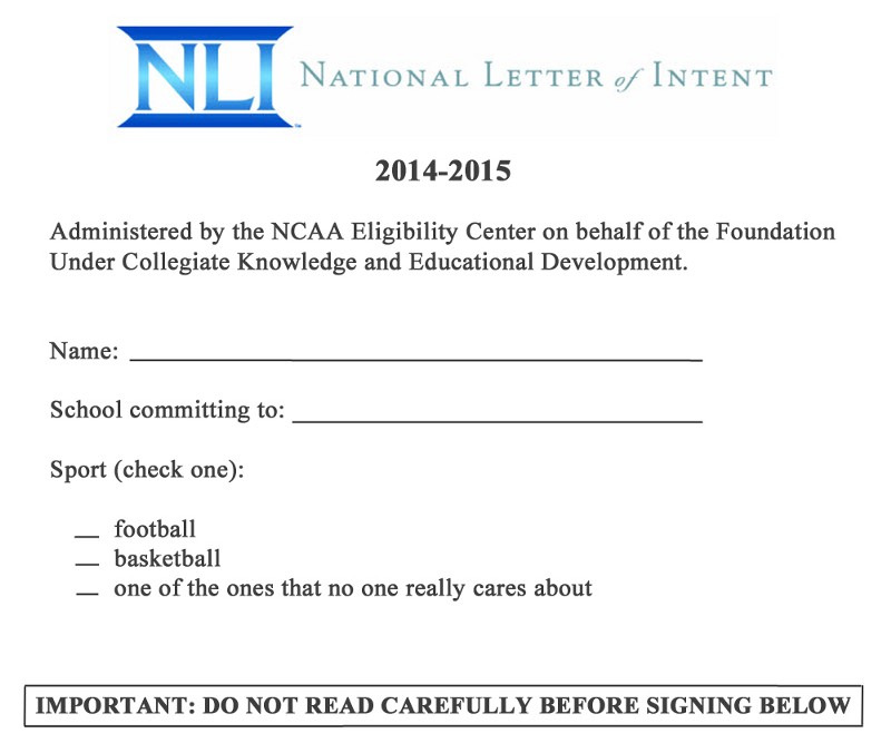 ... Football's National Letter Of Intent — The Cauldron — Medium