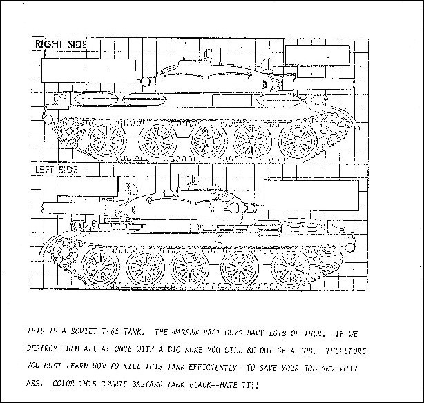 Cold war coloring book taught a 10 pilots to kill soviet tanks for Cold war coloring pages