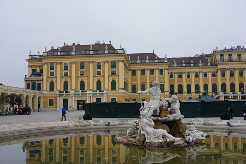 Schonbrunn Palace entrance. Everybit as elegant on the inside as the outside