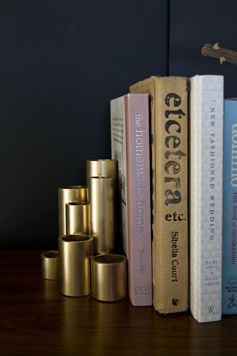 Diy Faux Gold Pipe Bookends Cozy