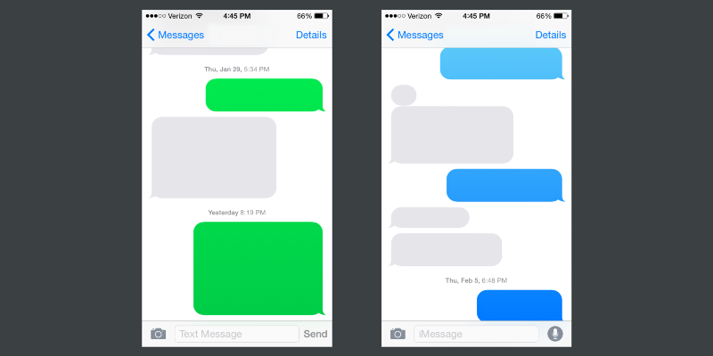Free Iphone Text Bubble Template