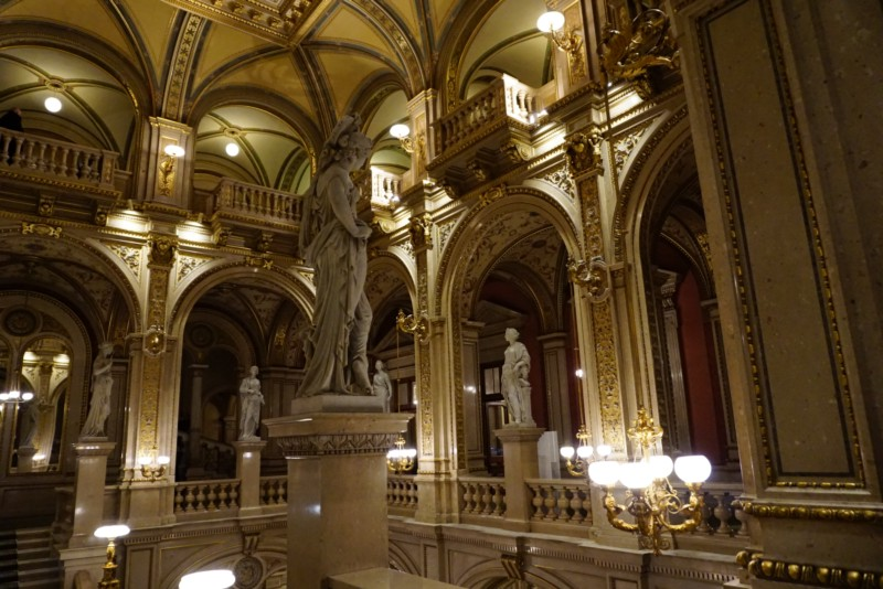 Inside the Vienna State Opera. The architecture and interior are like frozen in time.